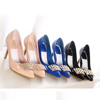 Free Shipping Women Fashion Elegant High-heeled Shoes Stiletto Pointy Pumps Toed Party Nightclub [OP463-OP477]