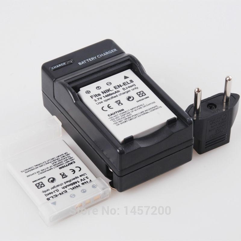 Аккумулятор SPAYPS 2 1400mAh ENEL8 en/el8 + + Nikon Coolpix P1 P2 S1 S2 S3 S5 S6 S7 S7c S8 S9 S50 for Nikon ENEL8 S1 зарядное устройство digital boy en el12 nikon coolpix s800c s610 s610c s710 en el12 battery charger