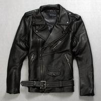 Resident Evil model Punk Rock motorcycle clothing fashion genuine leather jacket coat for man black Add fertilizer paragraph