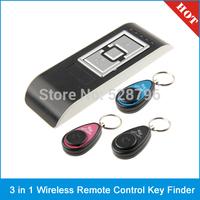 3 in 1 Wireless Remote Control Key Finder Anti-Lost Alarm Keychain Set