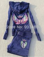 Free Shipping Velvet tracksuit women brand Women sports suits homies Hoodies & Pants SIZE S--XL