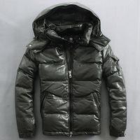 2014 winter Sheepskin down jacket genuine leather for man fashion down jacket Warm thickened green and black sheepskin downacket