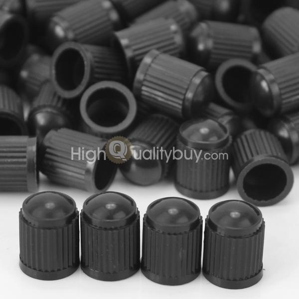150Pcs Car Accessory Black Plastic Tire Valve Dust Cover Stem Cap Cover 1.3x1cm(China (Mainland))