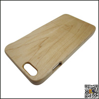 Stuck up and down,maple wood case for iphone 6 plus 5.5 inch