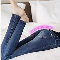 New Spring Autumn Women fashion Elastic Jeans Female Mid Waist Slim Long Pencil Jeans Pants Plus Size 10158