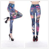 9761 m word stamp automotive beauty seamless printing pantyhose tattoo leggings leggings trade
