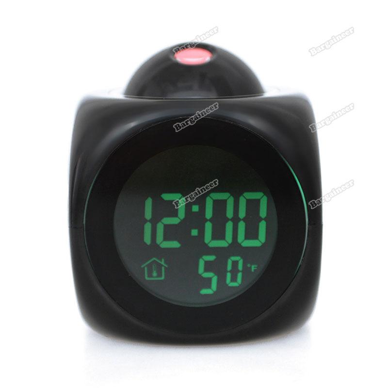 bargaineer top quality Voice Projection Digital Talking Alarm Clock Time Temp Display LCD Multifunctio [Original barnd](China (Mainland))