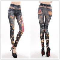 9772 Daisy Beauty printing seamless leggings tattoo leggings