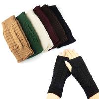 1PC Fashion Knitted Arm Fingerless Winter Gloves Unisex Soft Warm Mitten Freeshipping & wholesale