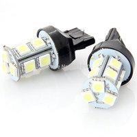 2pcs 7443 13 SMD W21/5W T20 580 LED White Brake Stop Tail Light Car Bulbs #240069