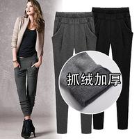 2014 Autumn&Winter, Women's Plus Size Fleece Thicken Casual Harem Pants
