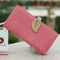 Scrub Hit Color Buckle Ladies Purse  Women's Wallets Fashion Clutch Wallet PU Leather Female Wallet Card Holder Vintage Bag W123