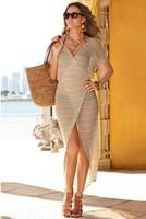 Freeshipping 2014 new summer beach swimwear knit bikini cover up pareo tunic maxi dress one_plus crochet