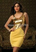 New Arrival Fashion Sleeveless Waist Hollow Out Party Dress Pu Patchwork Tank Mini Vestidos