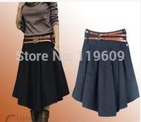 Plus Size Skirts For Women XS-4XL, Woolen Pleated Skirts , Women Extra Large Size Skirts For Autumn Winter Thicken Casual Skirt