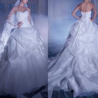 floor luxury wedding dresses 2014 sexy backless vestidos de noiva saia removivel lace ball gown wedding dress 2014 new arrival