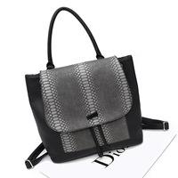 Free Shipping 2014 New Snakeskin Pattern Women Handbag Shoulders Bag Multipurpose Backpack