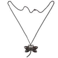 Vintage Style Metal Antique Bronze Dragonfly Shape Pendant Necklace New Collier Halskette Colar Collar
