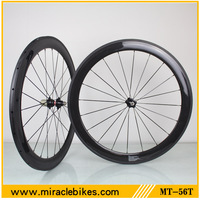 Factory price 700C oem road bicycle Tubular wheels,best price 3k glossy carbon fiber 700C wheelset 56mm 20/24H