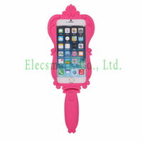 2014 Fall Fashionable Silicon Pink Mirror Case  For iPhone 6 4.7''