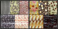 free shipping DIY  chocolate transfer edible sheet free style 10pcs/bag mix hot designs 400mmX250mm