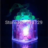 10pcs/lot Cheap changable night Light Factory Direct Merry Christmas gift Colorful Crystal Christmas Night Light electronic lamp