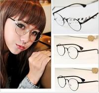 Metal Glasses eye glasses metal fashion glasses radioresistance eyeglasses men goggles glasses vintage fashion roundness 1329
