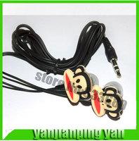 New stereo headphone mouth Monkey de  headset cartoon ear phone cute Cartoon Animation earphone