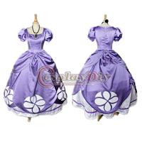 Free Shipping Custom-made Sofia the First Princess Costume Sofia Cosplay Costume