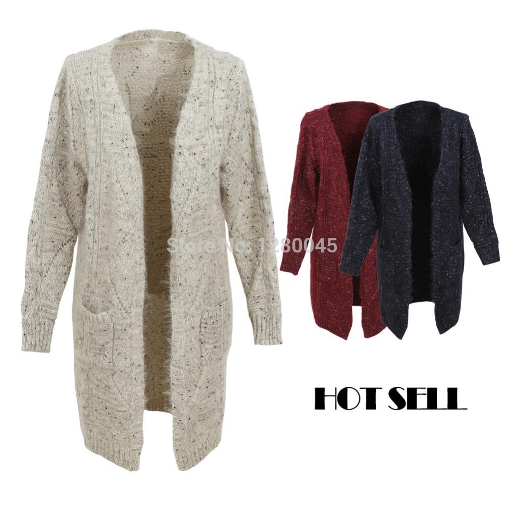Quente Open frente Cardigans camisola fio Weaving solto manto sobretudo mulheres longa blusa Casual Poncho Tops tamanho livre(China (Mainland))