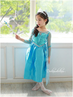Free shipping Wholesale 2014 Hot Selling New Style Girls Frozen Dress Fashion princess Dress Children's Cloting  5pcs/lot