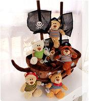 Lovely Plush Pirate Ship Teddy Bear Doll