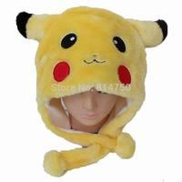 MODA CUBE Plush Fur Anime Pokemon Pikachu Children Kids Adult Winter Hat Cap
