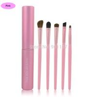 hot sale1set/5pcs professional eye brushes set eyeshadow foundation pencil brush for makeup tool make up brush pink color CZ034