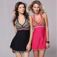 Women plus size swimwear one pc siz m to 3xL swim dress national style casual fashion hot sale Free shipping