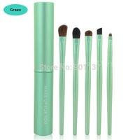 professional 5pcs/set eye part makeup brush set mini travel cosmetic brushes set dropshipping hot selling green color CZ034