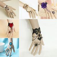 Bijoux Pulseiras Femininas Handmade Vintage Gothic Lace Slave Bracelets Bangles DIY  Bride Bracelets Hot Wedding Accessories