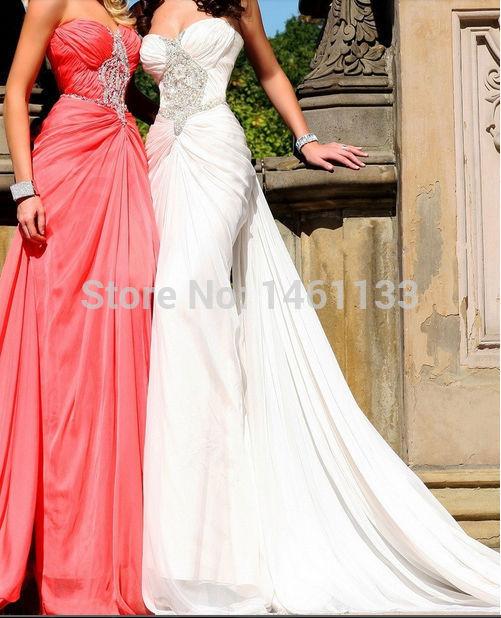 produto 2014 Custom Made Sexy Chiffon Sweetheart eading Stunning Elegant Glamorous High Quality Long Prom Dresses