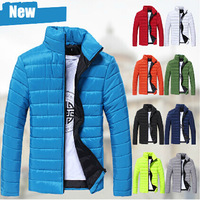 9 Color 2014 Brand Men Down Jackets Plus Size Cotton Mens Wadded Jacket Man Winter Jackets Man Warm Coat Hollistic Camisa AX883