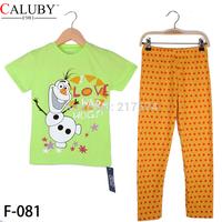 Frozen Olafy Boy Pajamas Frozen Clothing set Kids Pajamas Sets Children Cartoon Long Sleeve Pyjamas 6/Lot More Than 10 Designs