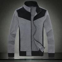 New winter wild collar temperament men coat jackets Color block black-matrix fashion cardigan sweatshirt men plus size 4XL MK.11