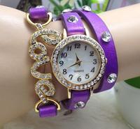 LOVE diamond bracelet watch women wrapped three times table1011 40632551581