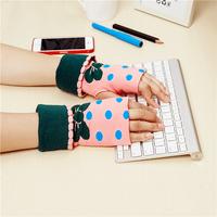 5pairs/lot winter women cycling gloves cute girls fingerless glove warm mittens  free shipping