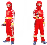 M-XL Dark Red Belted Jumpsuit with Balaclava Halloween Carnival Naruto Sadness and Sorrow Costumes for 4-12Y Children Kids Boys
