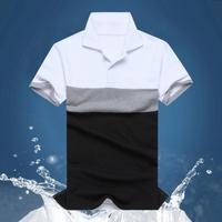 Polo new 2014 Casual camisa polo shirt men short sleeve Polo men's casual shirt color block decoration male tops  MK.11
