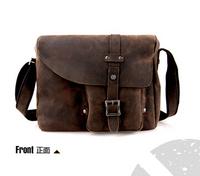 fashion new hotsale male genuine leather cross body shoulder bags,cowhide vintage messenger bags L133AU01