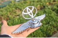 eagle wings emblems car beacon for Toyota (RV4 Corolla Prado etc) luxury 3D stereo car badge eagle wing sticker silver emblem
