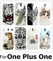 22 Patterns Personalize Tiger Wolf Animals 3D Relief Emboss Print Hard Back Cover For One Plus One Cover OnePlus_One Phone Cases