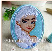 Elsa iron on patches Felt Frozen princess Snow Queen patch USA cartoon Appliques kids accessory  wholesale 100pcs/lot