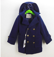 20141011 winter New children clothing Double-sided woolen coat long-sleeved woolen coat,children jacket&outerwear